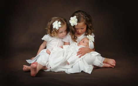 3-Baby-Girls-in-White-Dress-and-Flower-the-Little-One-is-Taken-Good-Care-of-They-are-Like-Angels-Cute-Babies-Wallpaper